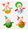 clowns set vector image