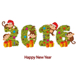 design new year 2016 with monkeys and Christmas vector image vector image