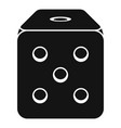 dice cube icon simple style vector image vector image