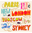 Doodle city signs vector image