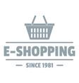 e shipping logo simple gray style vector image vector image