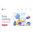 easy cooking website vector image vector image