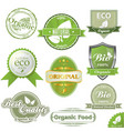 eco labels and stamps vector image vector image