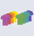 eight polo shirts with different colors vector image vector image
