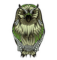 ethnic owl on white vector image