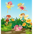 Fairies flying vector image vector image