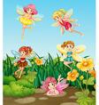 Fairies flying vector image