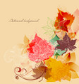 fall seasonal background autumn leaves corner vector image