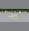 fir branch with neon lights pine cone and golden vector image vector image