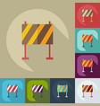 flat concept set modern design with shadow warning vector image vector image
