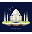 flat design travel indian vector image vector image
