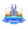 germany - modern line travel vector image
