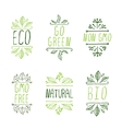 Hand-sketched typographic elements Eco product vector image