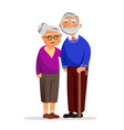 happy granny and grandpa standing together and vector image vector image