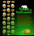 happy halloween poster with text vector image vector image
