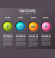 infographic option buttons background vector image vector image