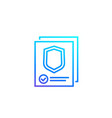insurance claim line icon vector image