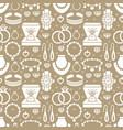 jewelry seamless pattern glyph vector image vector image