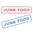 junk food textile stamps vector image vector image