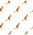 kangaroo pattern seamless vector image vector image