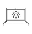 laptop computer with gear vector image vector image