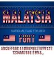 Malaysia Flag Font vector image vector image