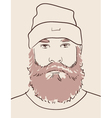 man with beard and mustache vector image vector image