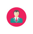 manager man - concept colored icon in flat graphic vector image