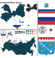 Map of Oblast of Leningrad vector image vector image