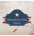 Memorial Day Sale realistic Poster and Ribbon vector image vector image