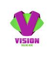 modern vision logo vector image vector image