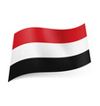 national flag of yemen red white and black vector image vector image