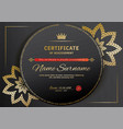 official black certificate with red black design vector image