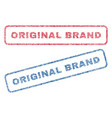 original brand textile stamps vector image vector image