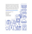 orthodontics article page template vector image vector image