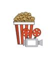 pop corn with cinema icon vector image vector image