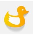 realistic design element duck vector image vector image