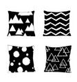 realistic pillow models with different geometric vector image