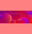 red creative solutions background with bubbles vector image vector image