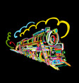 retro train sketch for your design vector image