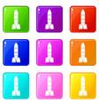 rocket icons 9 set vector image vector image