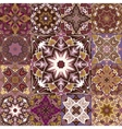 Seamless patchwork tile with Victorian vector image vector image