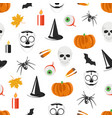 seamless pattern with halloween holiday vector image vector image