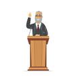 senior politician - cartoon people character vector image