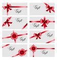 set gift card on white background luxury wide vector image vector image