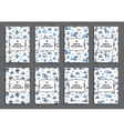 Set of merry christmas card templates with arctic vector image vector image
