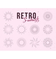 Set of vintage linear sunbursts Hand-drawn vector image vector image