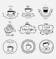 set of vintage retro coffee labels vector image