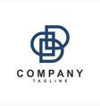 simple ddd initials company logo vector image vector image