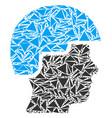 soldier helmet mosaic of triangles vector image vector image